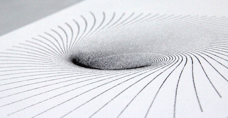 The void on coarse paper