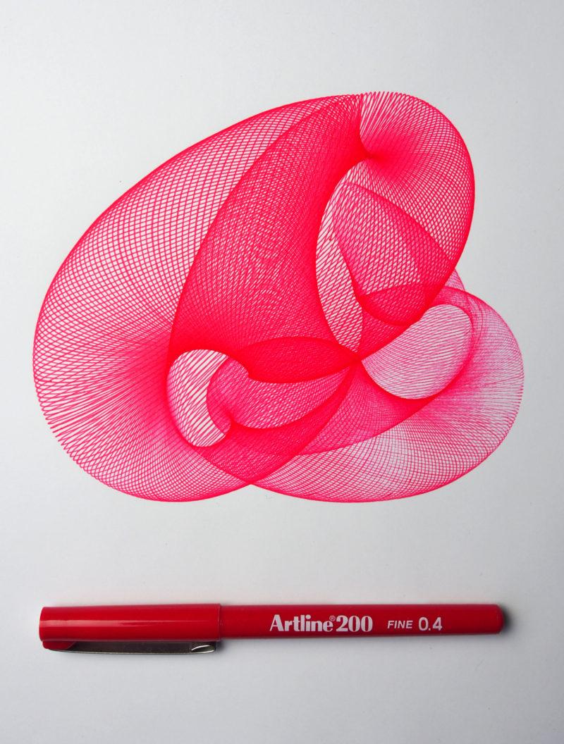 Red Harmonograph #0